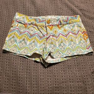 Love fire patterned shorts